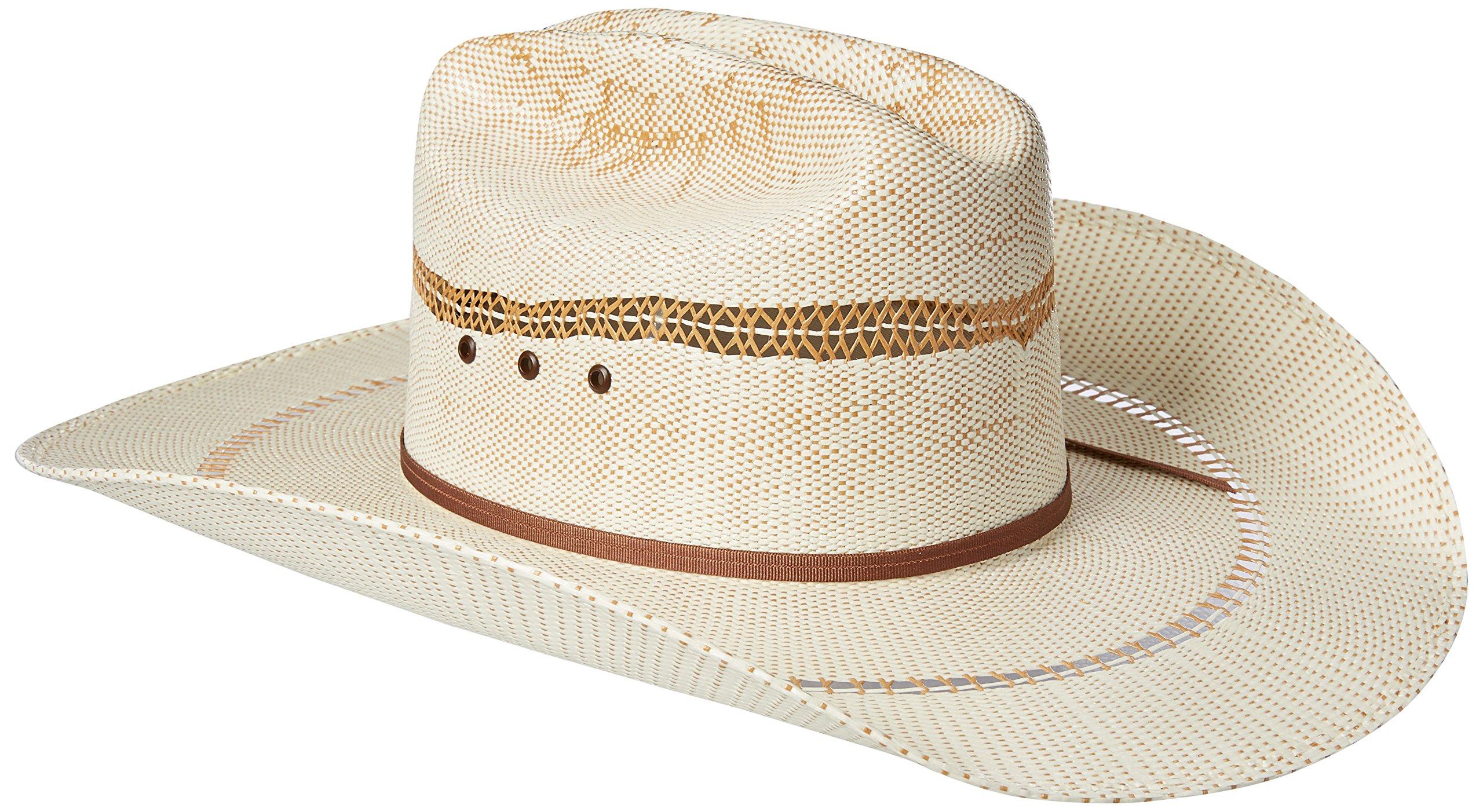 Ariat Men's 2-Tone Bangora Open Brim Cowboy Hat, Natural/tan, 7 5/8