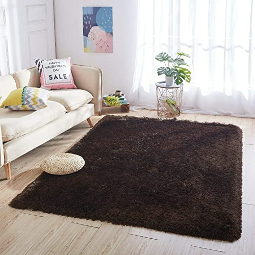 Home Must Haves Shaggy Shag 5'x8' Feet Faux Sheepskin Area Rug