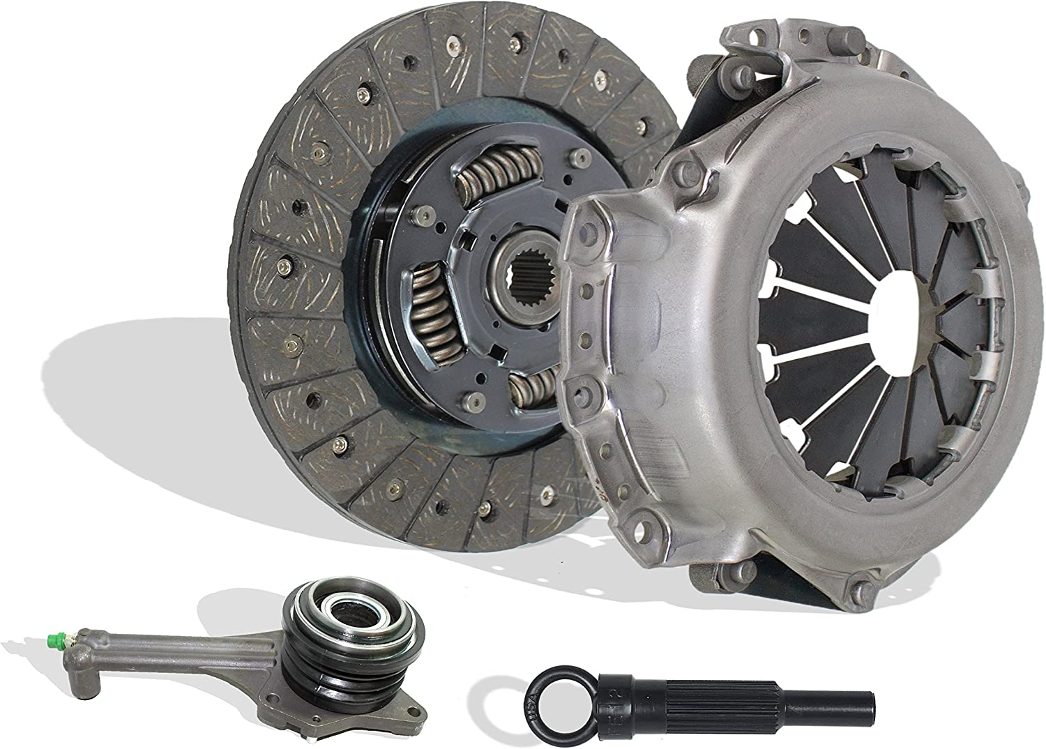 Clutch Kit Works With Mitsubishi Lancer Oz Rally Ls Es 2.0L l4 GAS SOHC Naturally Aspirated 2.0L l4 GAS DOHC Turbocharged 5 Speed Trans; 05-122