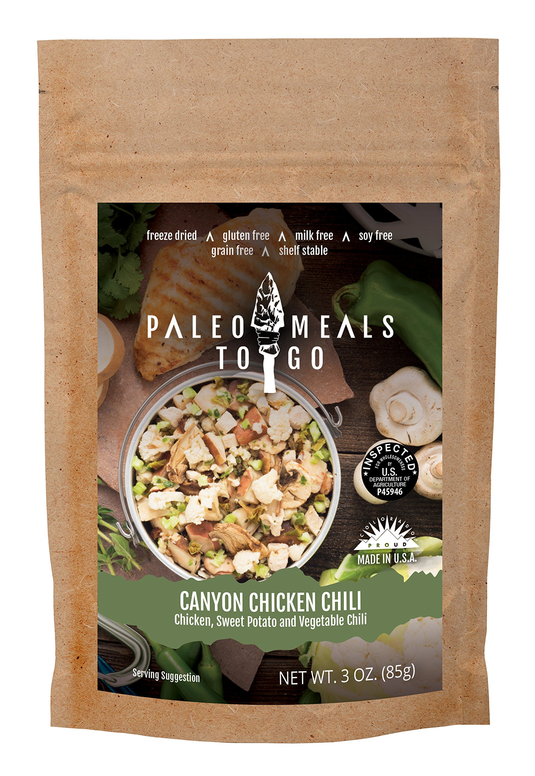 Wild Zora Canyon Chicken Chili Freeze Dried Gluten Free Paleo Meal for Backpacking and Camping by Wild Zora