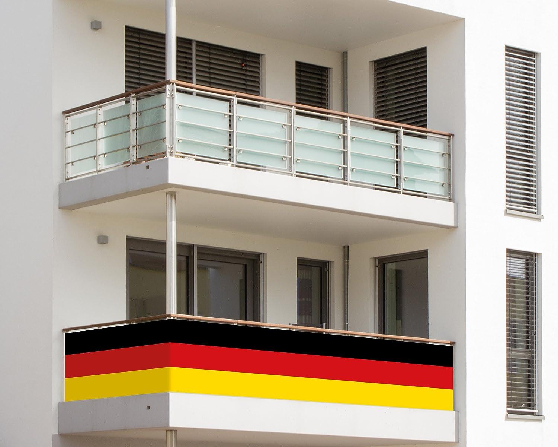 Europameister Balkonumrandung Deutschland Fußball Deko Fan Artikel