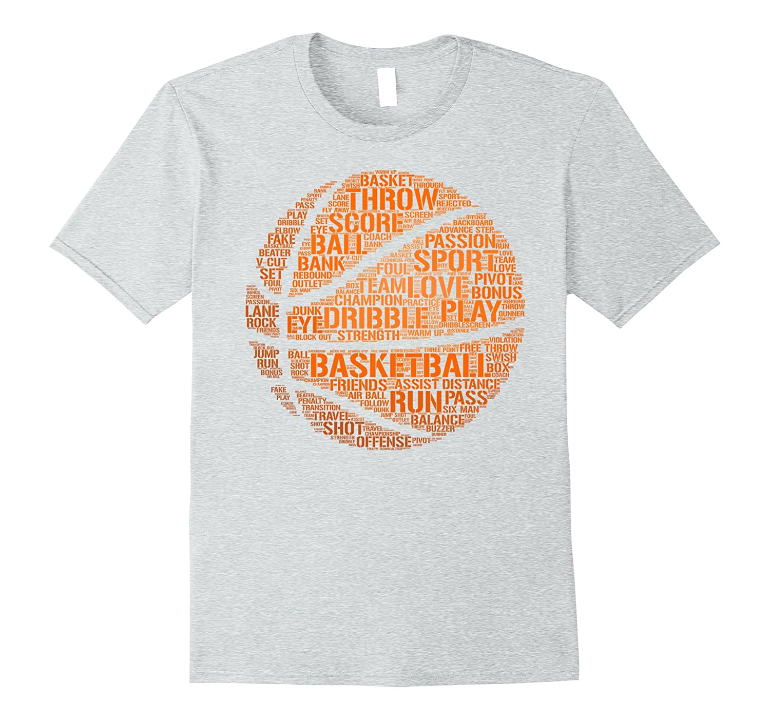 Basketball Shirt Words Terms Vocabulary Player Gift T-Shirt-TH