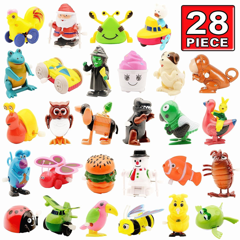 Aufziehspielzeug, 28er Pack Verschiedenes Uhrwerk-Spielzeug-Set, Tier-Aufziehspielzeug als Partygeschenk Tolles Geschenk für Jungen Mädchen Kinder und Kleinkinder Original Color