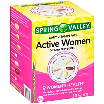 Amazon.com  Spring Valley™ Active Women Daily Vitamin Pack Dietary ... b0d44ff4b1