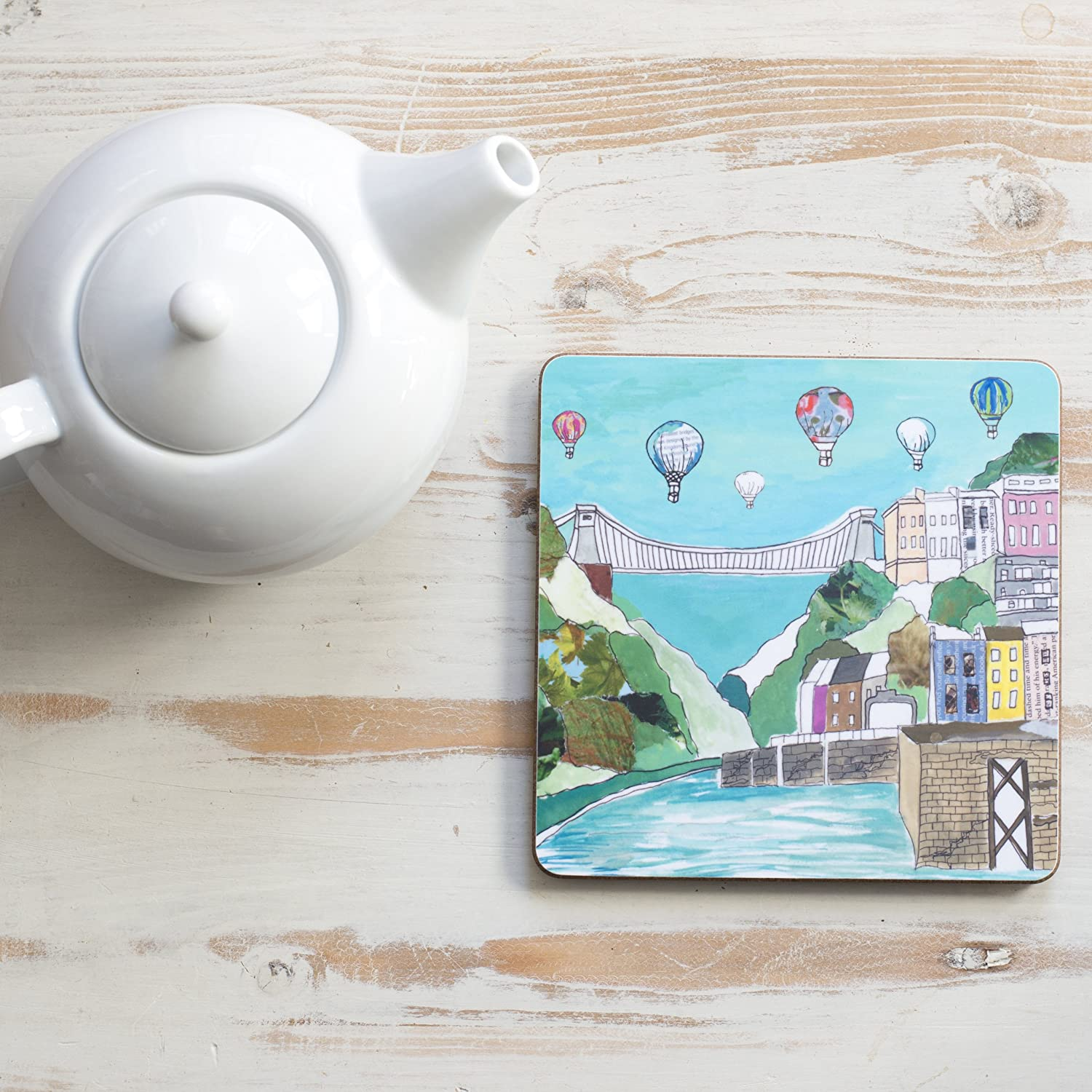 Clifton Balloons Square Teapot Stand Emmeline Simpson