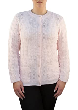 Gabriel Womens Long Sleeve Cable Cardigan Sweater With Two Pockets ...