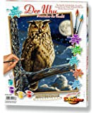 Schipper - 609240703 - The Eagle Owl - Master of the Night - Tableau à Dessin - Taille 40 x 50 cm