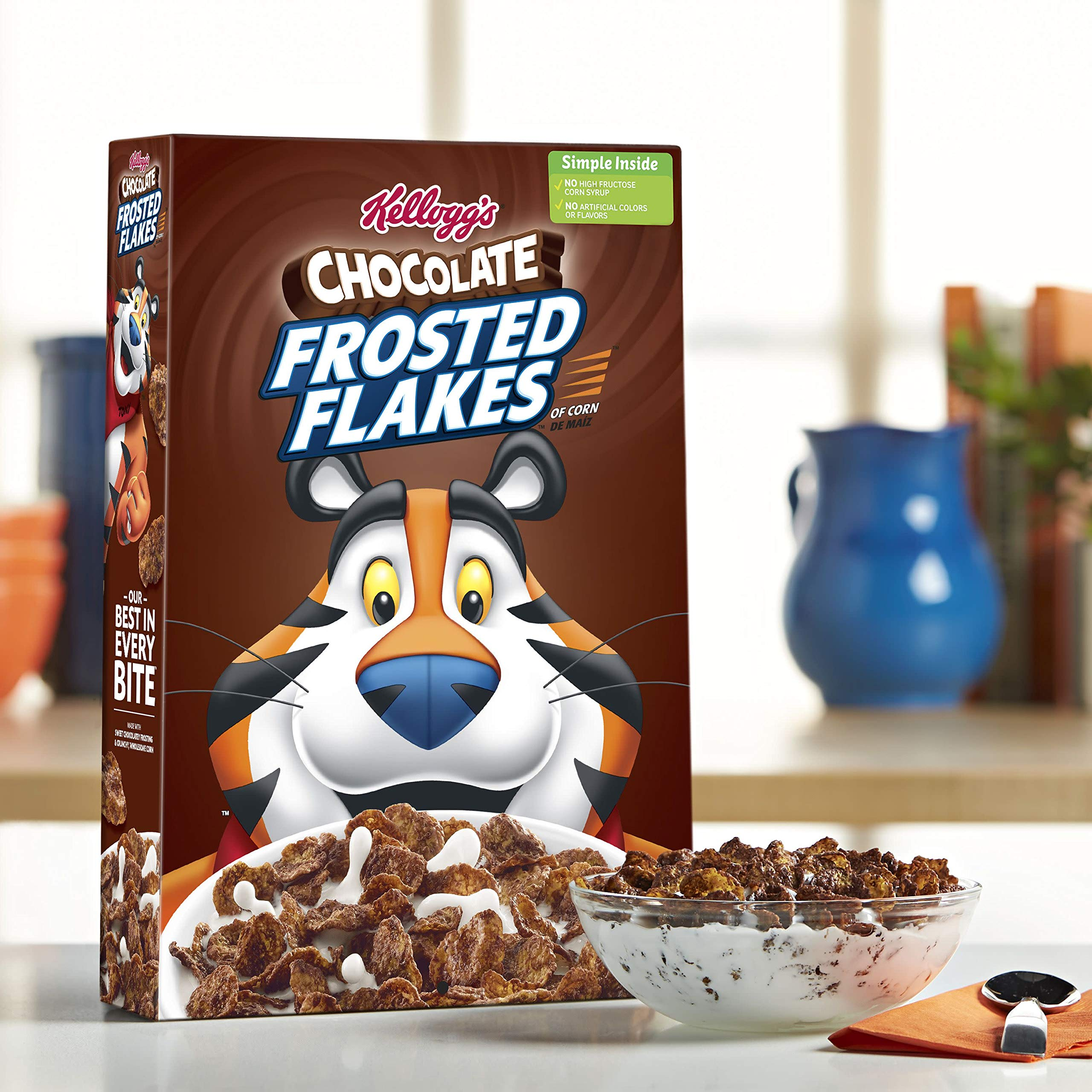Kellogg's Chocolate Chocolate Frosted Flakes, 13.7 Ounce (Pack of 16) by Kellogg's (Image #4)