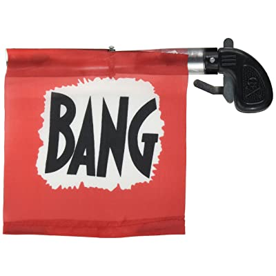 "Loftus Star Power Starter Prank Bang Gun Flag Pistol, Red/Black/White, 5"": Toys & Games"