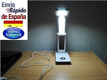 Flexo estudio juvenil juveniles LED. Lámpara de mesa para leer por la noche. Escritorio juvenil infantil o adulto.Plegable y se puede conectar al ordenador mediante el cable.: Amazon.es: Iluminación