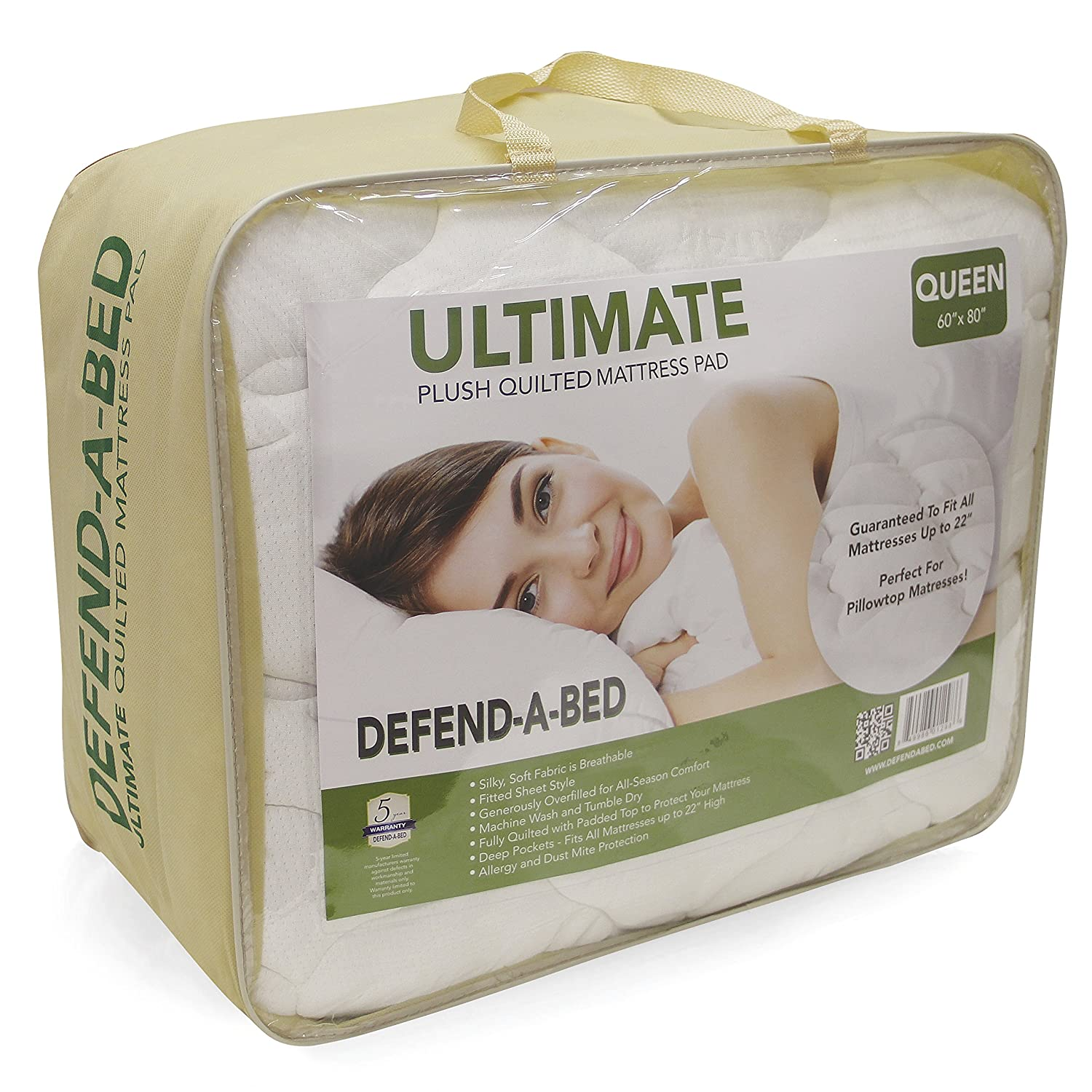 Amazon.com: Classic Brands Defend-A-Bed Ultimate Bamboo-Rayon Quilted Waterproof Mattress Protector, Full: Home & Kitchen