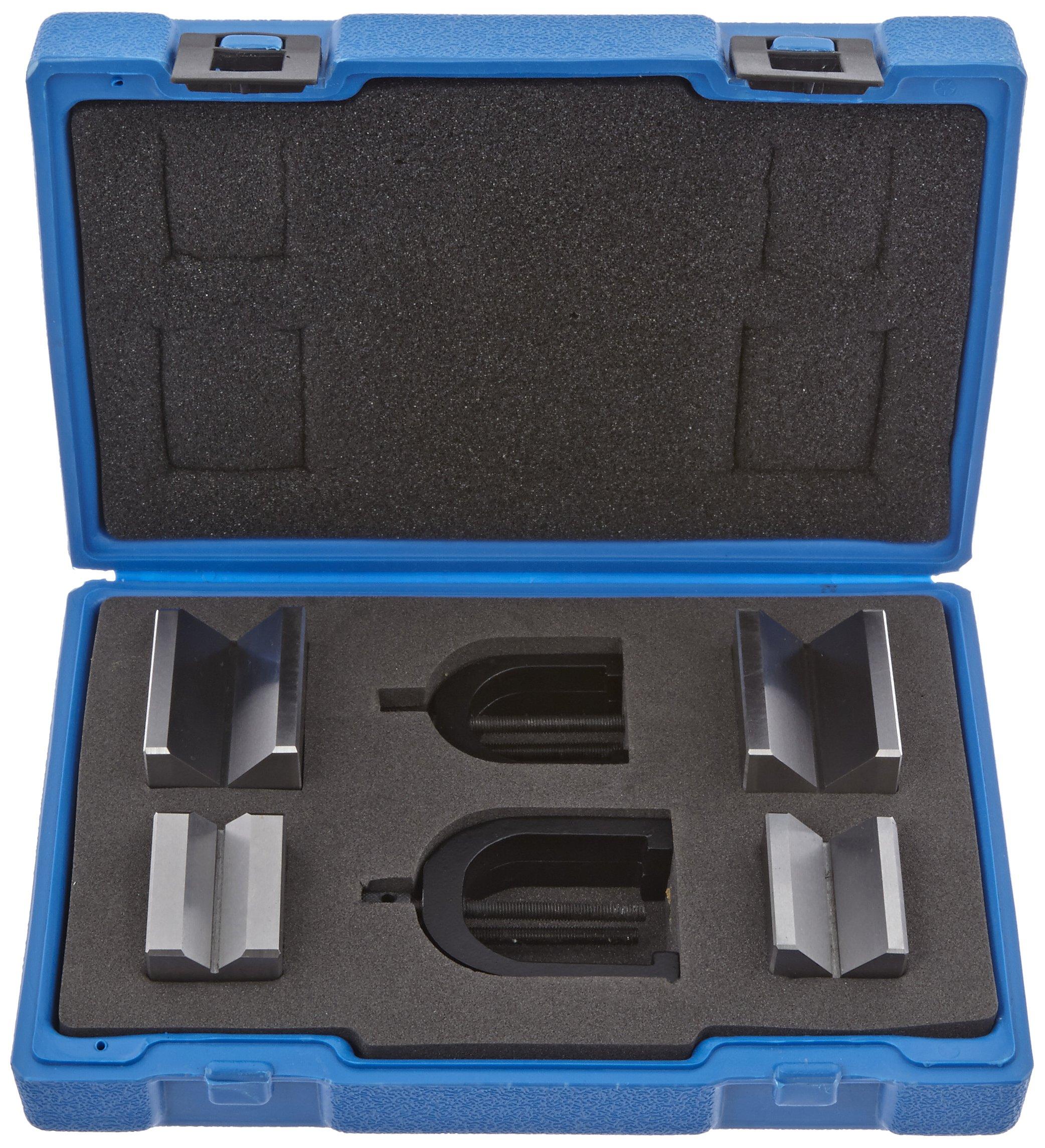 Fowler Full Warranty 52-475-500-0 Hardened Steel X-Blox V-Block Set, 1.5''L x 1.25''W x 1.25''H