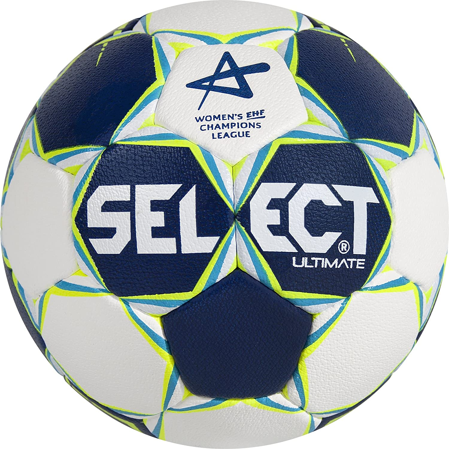 Select Ultimate cl Women Balonmano IHF Balón Fútbol, Color Azul/Blanco/Rojo
