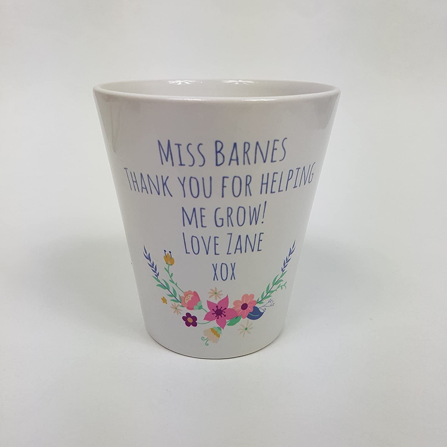 809710edbe6 Teacher Flower Pot ~ Personalised flower Pot ~ Thank you gift ~ End of Term  ~ Teacher Gift ~ Appreciation Present Thank you for helping me grow ~  School ...