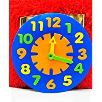 Jiada 9.8 Inch Educational EVA Foam Clock for Kids, Clock Toys to Teach Time for Toddlers - Multicolour