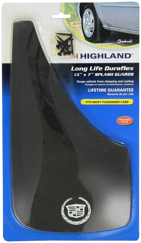 Highland 1031700 Black Cadillac Logo Molded Splash Guard 2 Piece
