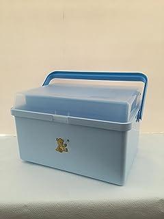 Changing Box Teddy design blue