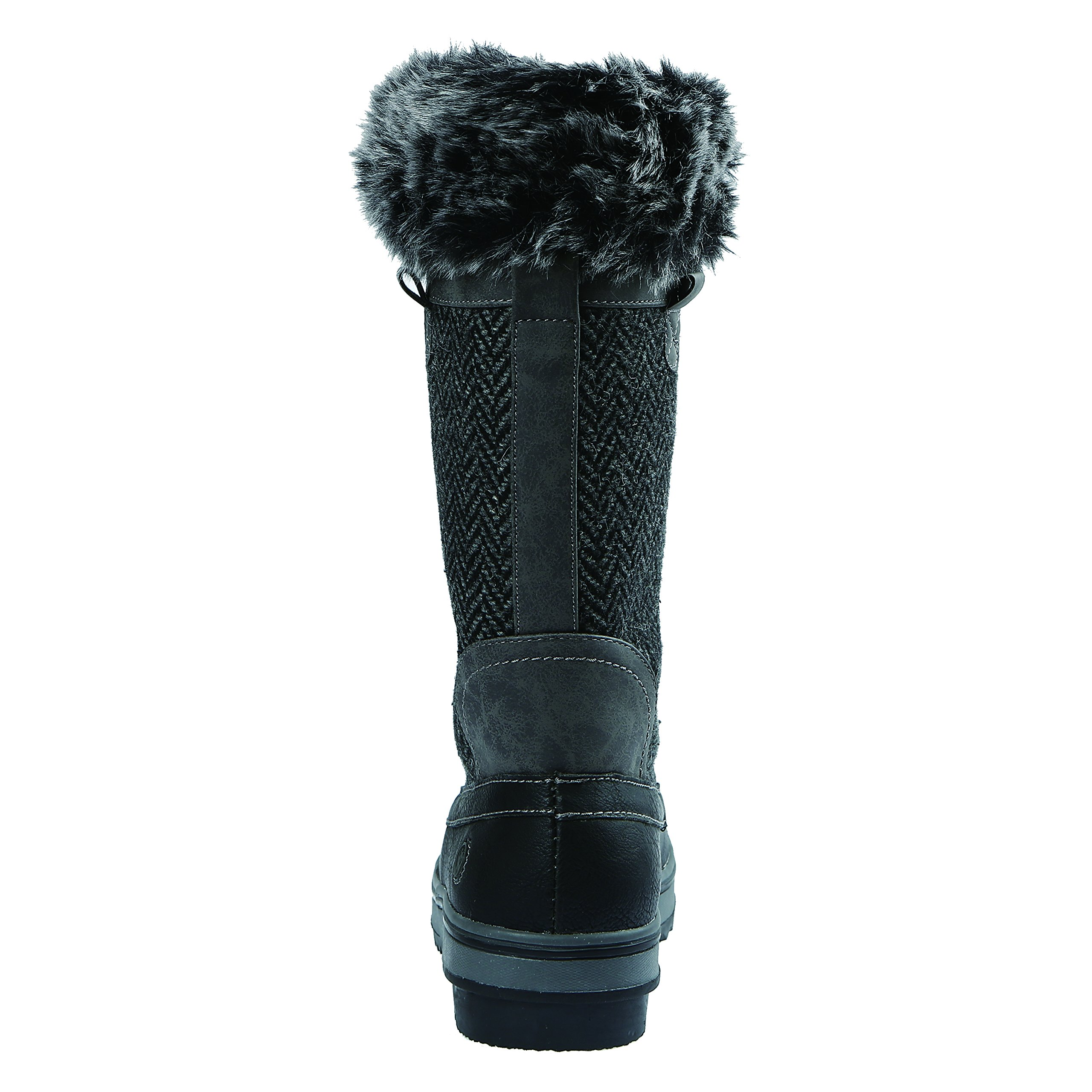 Northside Women's Bishop Snow Boot, Charcoal, 10 M US by Northside (Image #4)