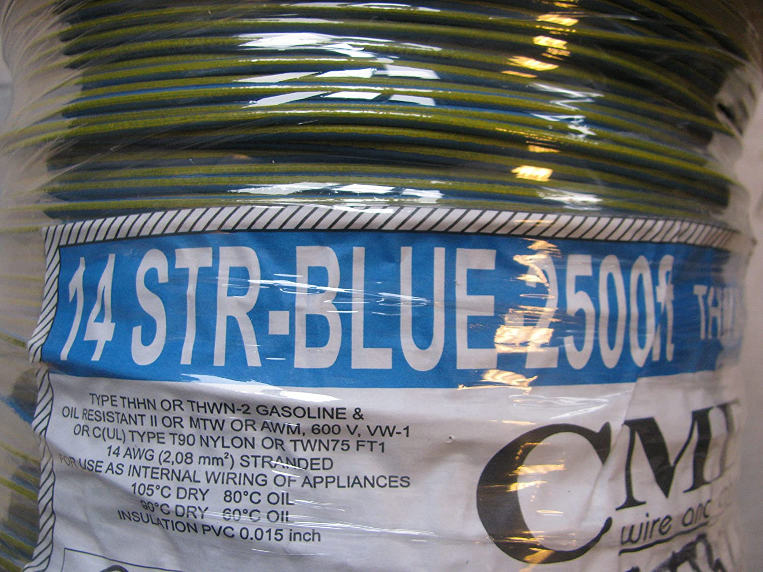CME E102470 S Reel of 14 AWG Strand Cable THHN Or THWN Or MTW 500 FT ...