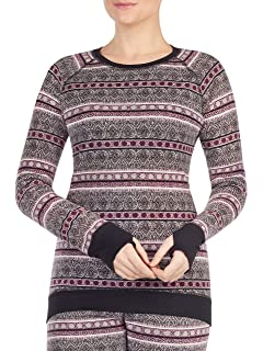 XL, Black With Subtle Embossing Cuddl Duds ClimateRight Stretch Fleece Warm Underwear Legging