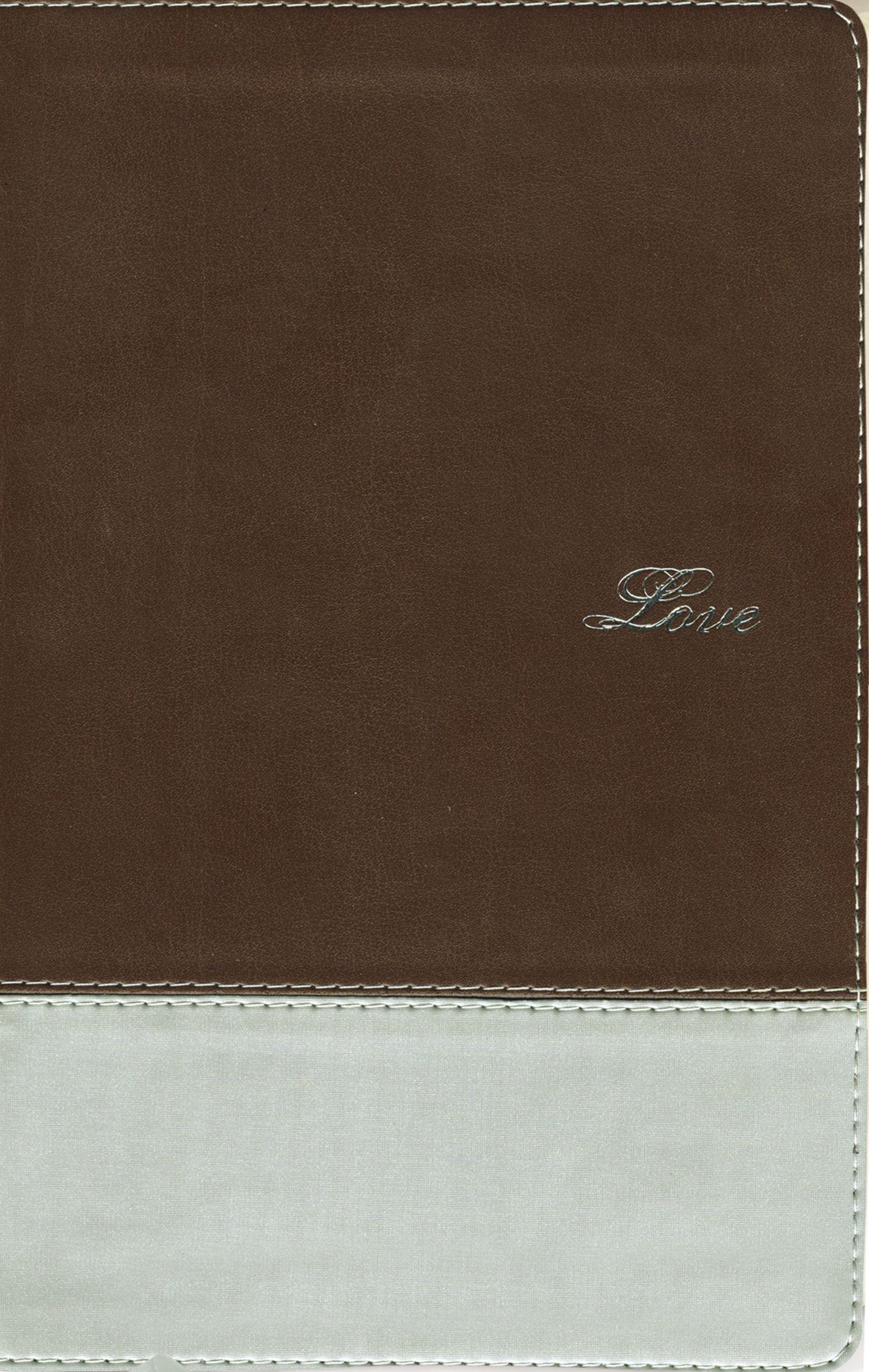 NIV, Couples' Devotional Bible, Leathersoft, Brown/Silver pdf epub