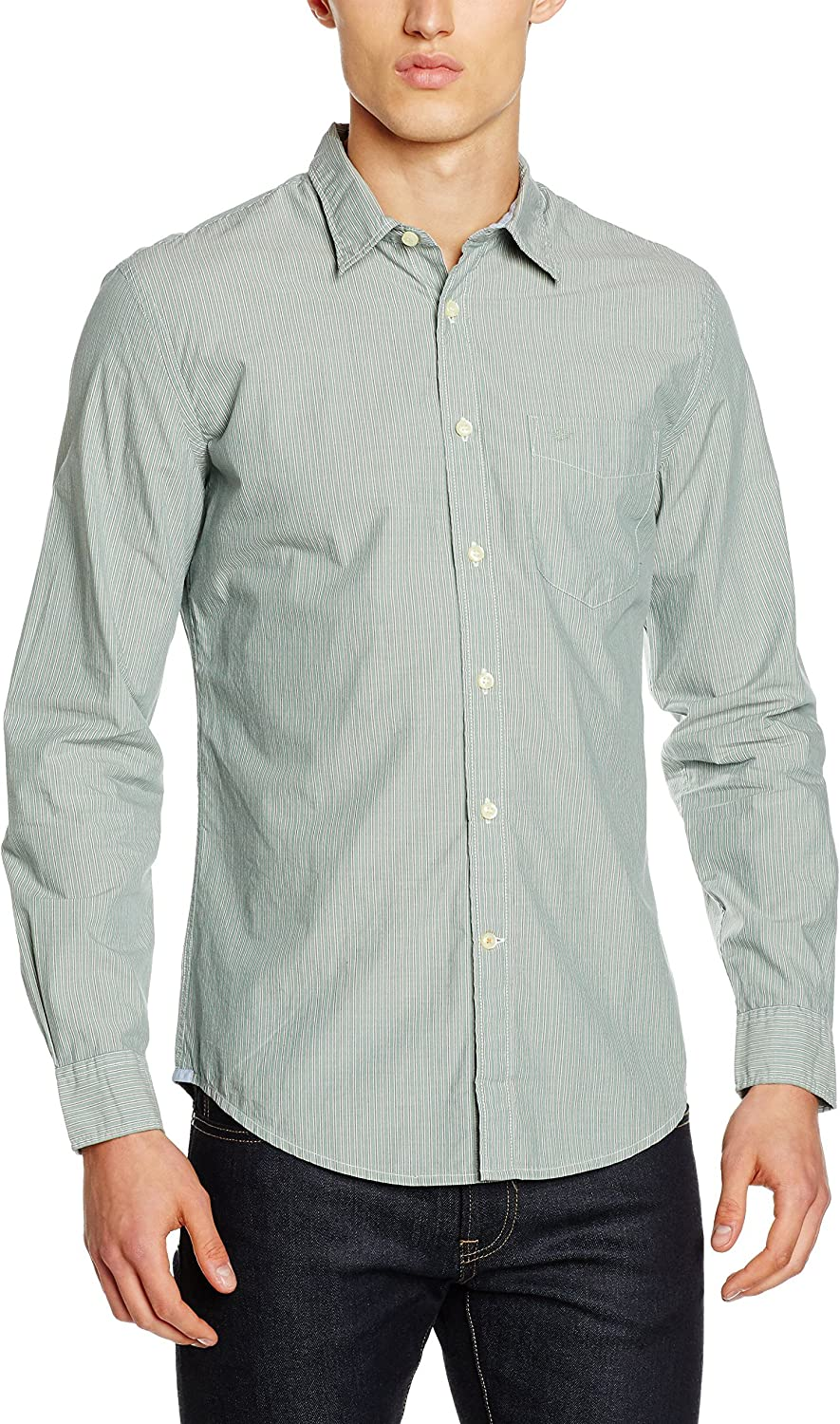 Dockers Laundered Fitted, Camisa Hombre, Verde (Rocco Worn Green ...