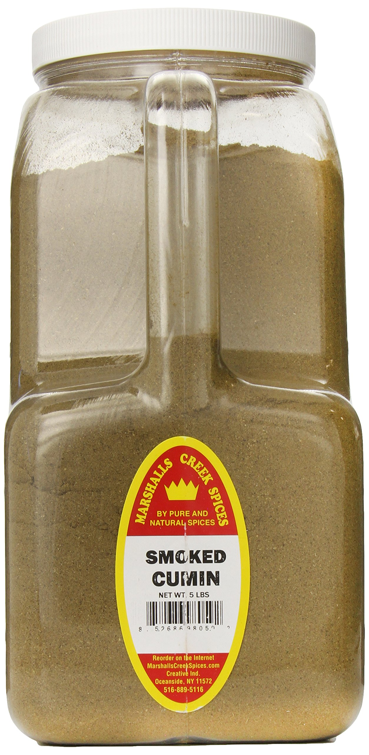 Marshalls Creek Spices XXL Restaurant Size Spice Jug, Smoked Cumin Ground, 5 Pound