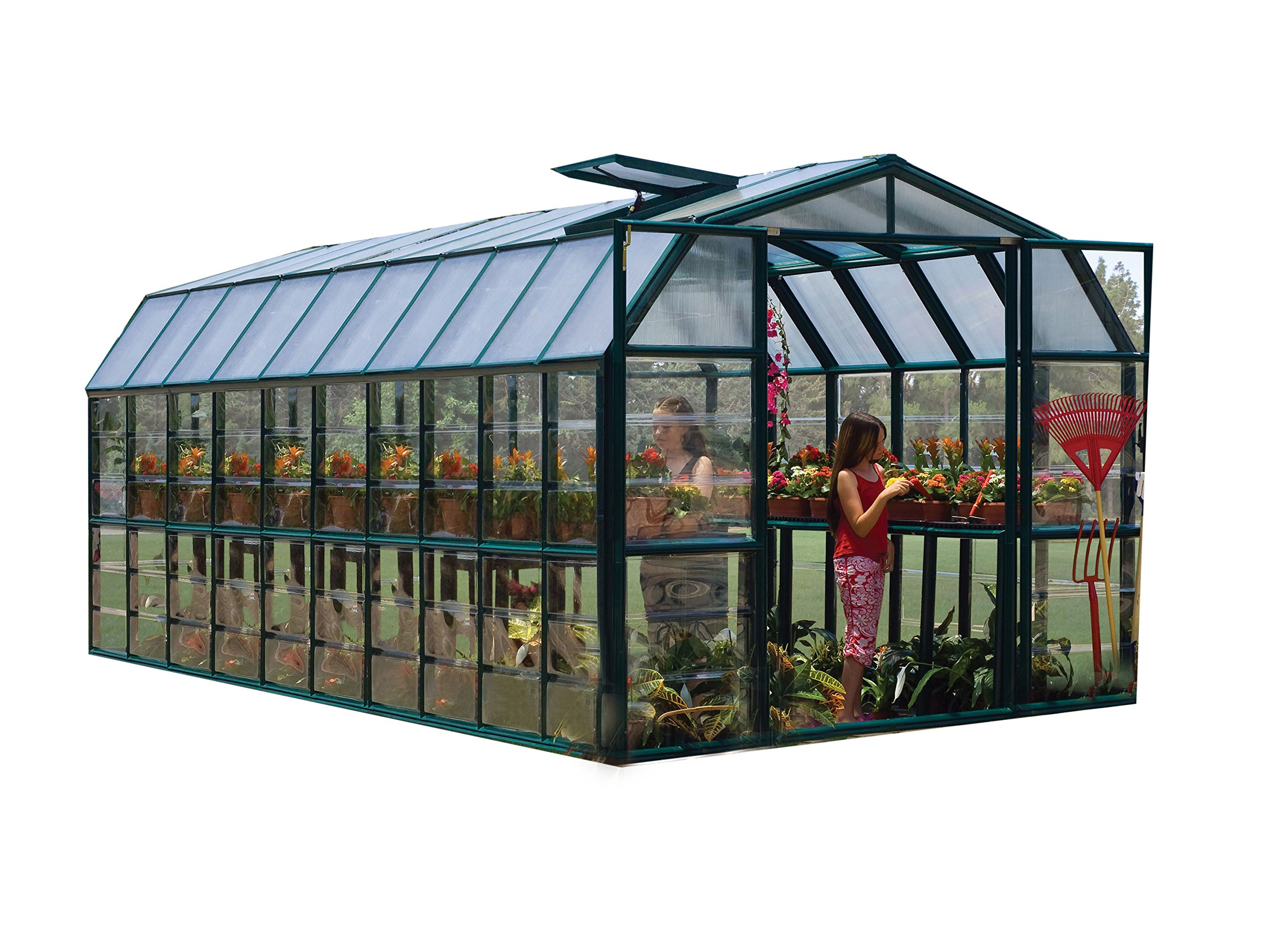 Rion Grand Gardener 2 Clear Greenhouse, 8' x 20'