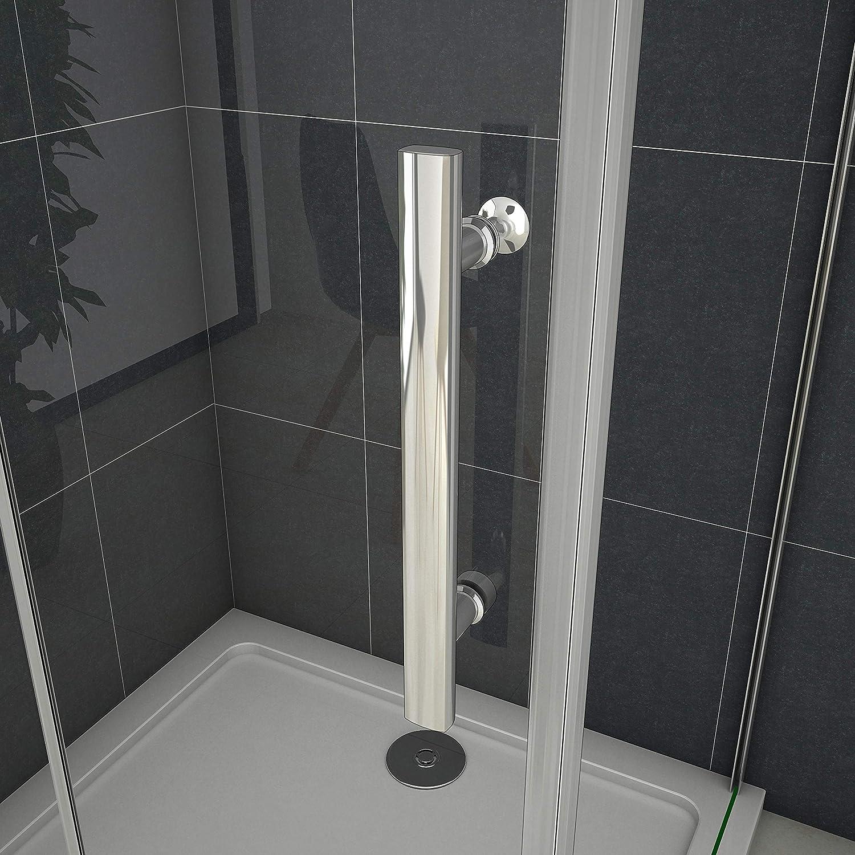 110 x 70 x 195 cm de ducha mampara de ducha de puerta de ducha de cristal con plato de ducha: Amazon.es: Bricolaje y herramientas