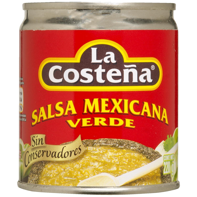 LA COSTEÑA salsa mexicana verde lata 220 gr: Amazon.es: Alimentación y bebidas