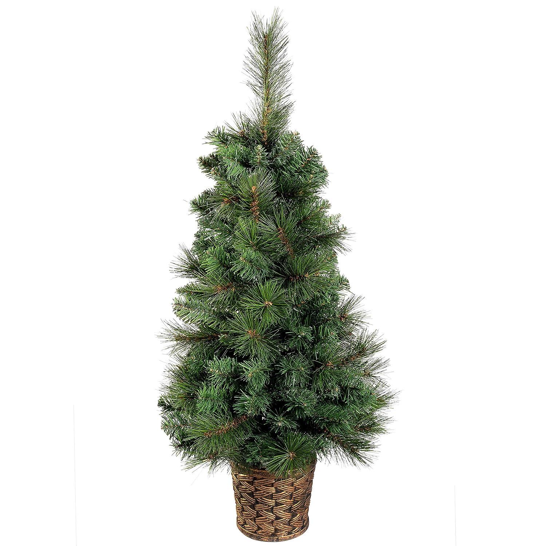 WeRChristmas - Albero di Natale in vaso oro/resina, altezza: circa 90 cm WRC-3041