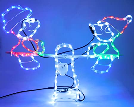 Christmas concepts rope light snowman and elf animated seesaw christmas concepts rope light snowman and elf animated seesaw christmas decorations 80cm x aloadofball Images