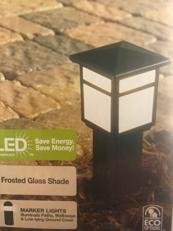 Amazoncom Hampton Bay Low Voltage Black Square Integrated Led