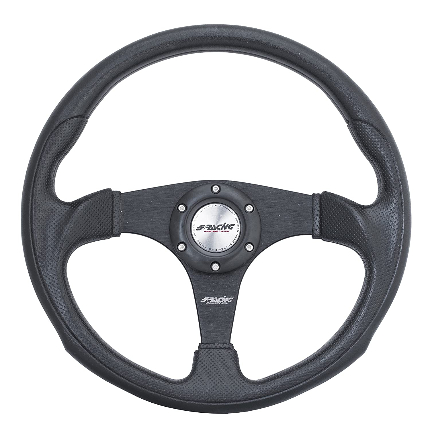 Simoni Racing ITG INTEGRALE Sport Steering Wheel, Three, Black Universal
