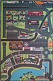 Tapis de jeu pour enfant – route circuit de voiture dans la ville - 130 x 200 cm | TAPITOM®