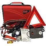 Lifeline AAA 4365AAA Destination Road, 68 Piece Emergency Car Tire Inflator, Jumper Cables, Headlamp, Warning Triangle and Fi