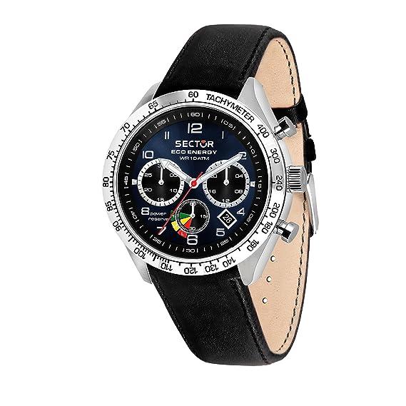 Sector NO Limits Reloj Cronógrafo para Hombre de Energía Solar con Correa en Cuero R3271613002: Amazon.es: Relojes