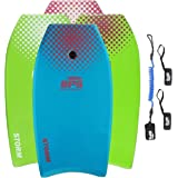 BPS STORM Bodyboard - includes PREMIUM Coiled Leash and Swim Fin Tethers (Single Board)