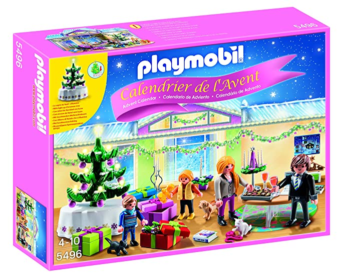 Playmobil Calendario de Adviento - Pack Habitación de Navidad con árbol iluminado (5496): Amazon.es: Juguetes y juegos