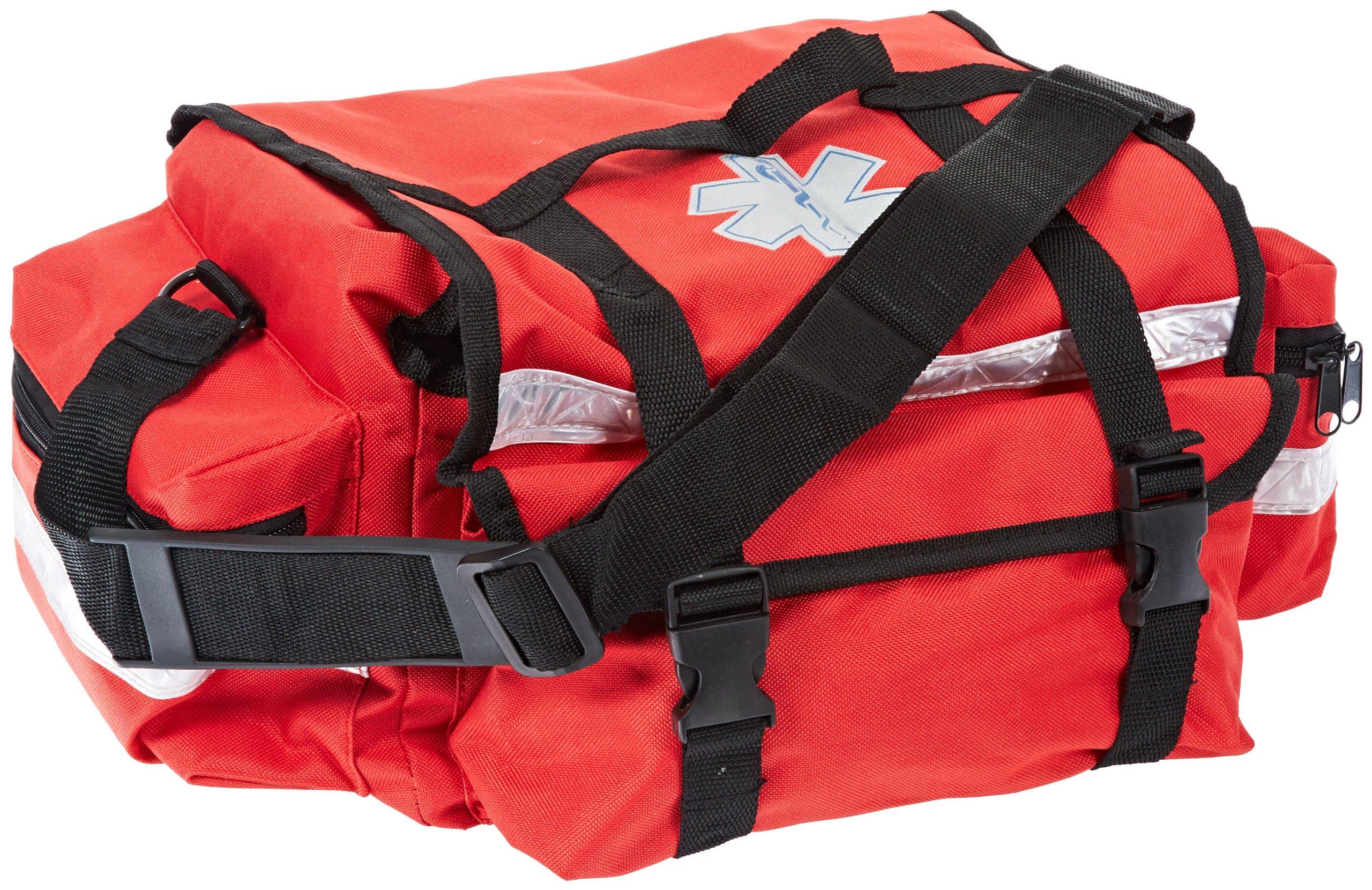 Primacare KB-RO74-R Trauma Bag, 7'' Height x 17'' Width x 9'' Depth, Red