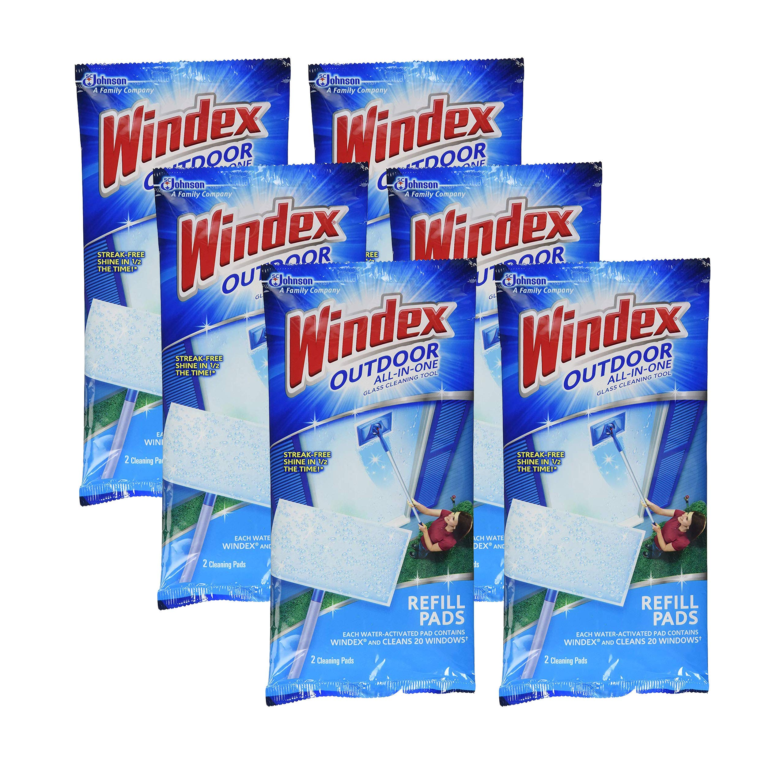 Windex All-in-One Window Cleaner Pads Refill - 2 ct (6 Pack)