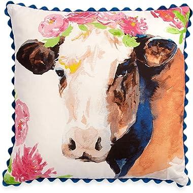 The Pioneer Woman Cow Throw Pillow Decorative Toss Farmhouse Decor 16 x16
