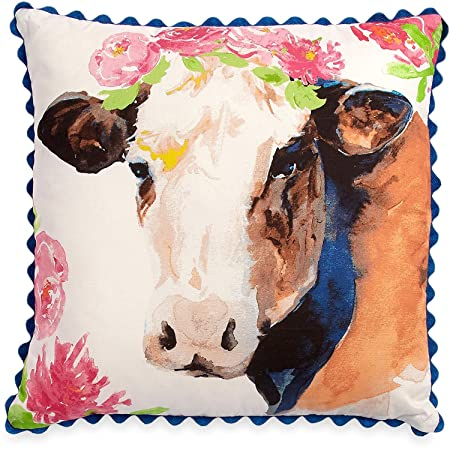 The Pioneer Woman Cow Throw Pillow Decorative Toss Farmhouse Decor 16 x16