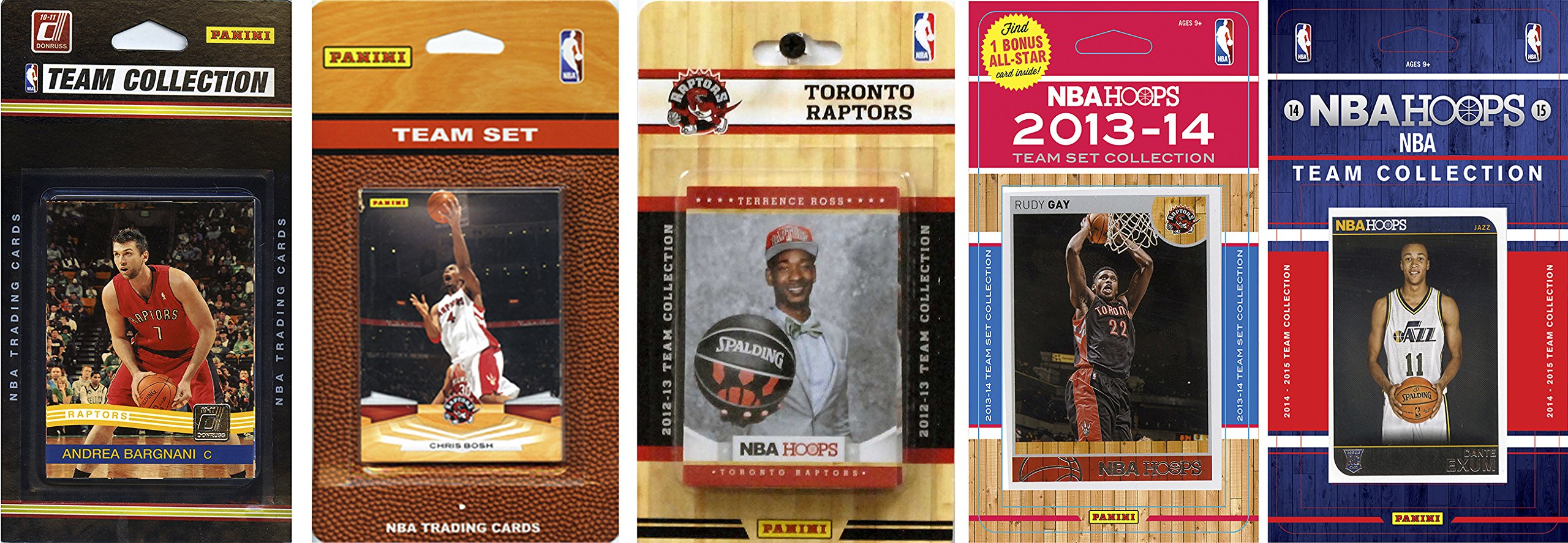 C&I Collectables NBA Toronto Raptors 5 Different Licensed Trading Card Team Sets, Brown, One Size