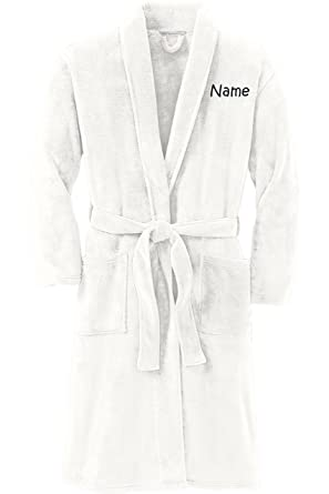 Personalized Plush Microfleece Robe with Embroidered Name ... a072ab155
