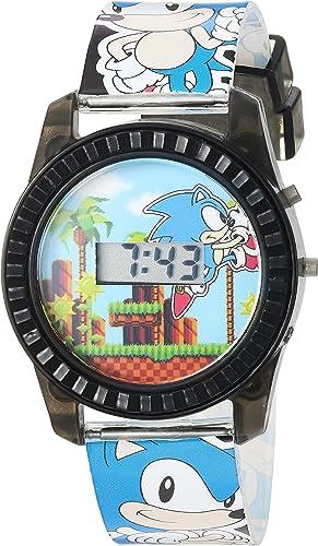 Amazon Com Sonic The Hedgehog Kids Snc4008 Digital Display Quartz Blue Watch Watches