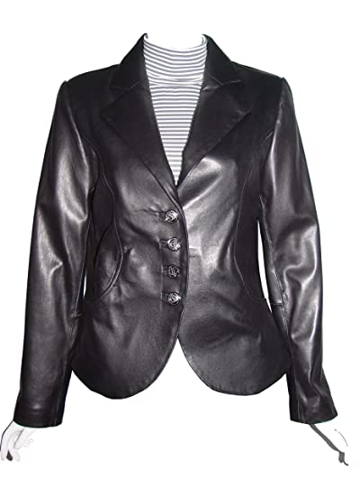 c2c8760e045 Nettailor Big and Tall Women PLUS 4065 Basic Leather Short Blazer at Amazon  Women s Clothing store