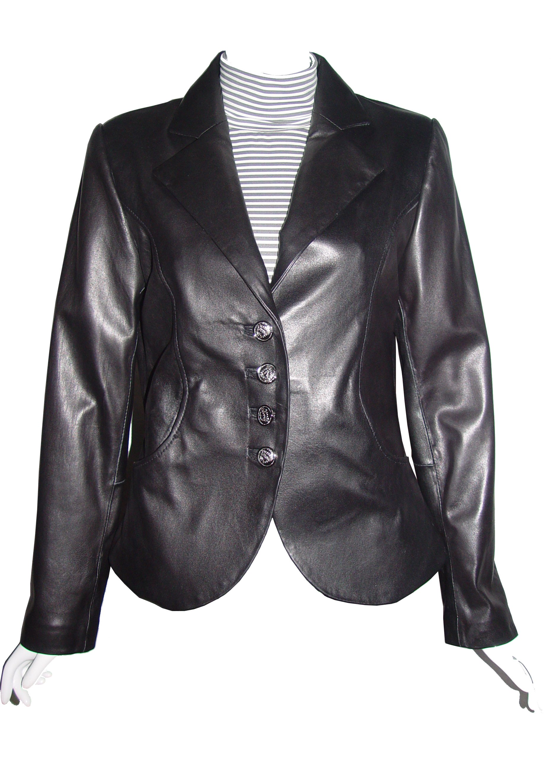 Nettailor Big and Tall Women PLUS & ALL SIZE 4065 Basic Leather Short Blazer