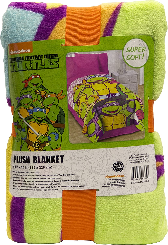 Nickelodeon Teenage Mutant Ninja Turtles I Love TMNT Throw Blanket for Girls