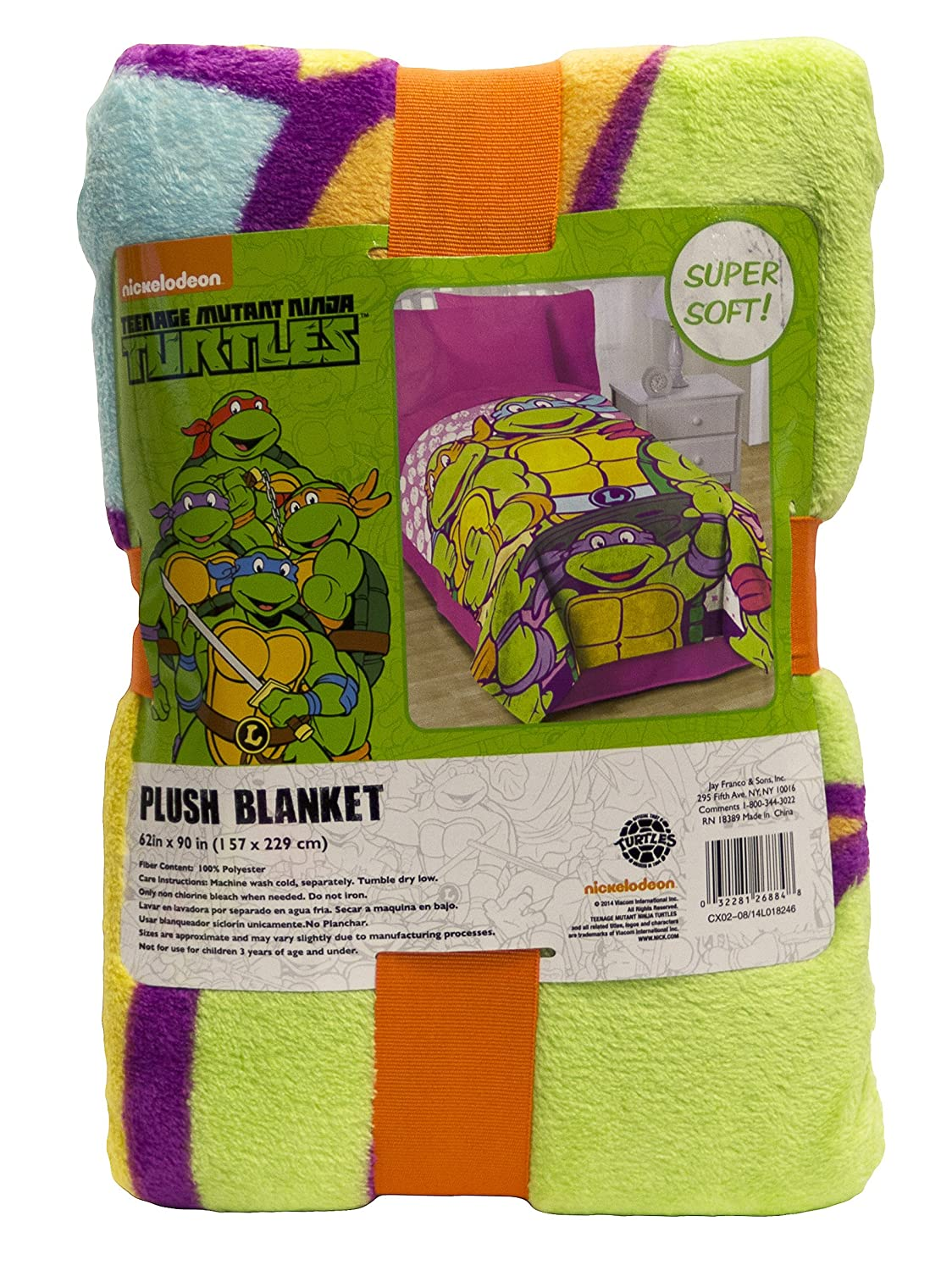 Nickelodeon Teenage Mutant Ninja Turtles I Love TMNT Throw Blanket for Girls Jay Franco and Sons Inc JF26884WCCD